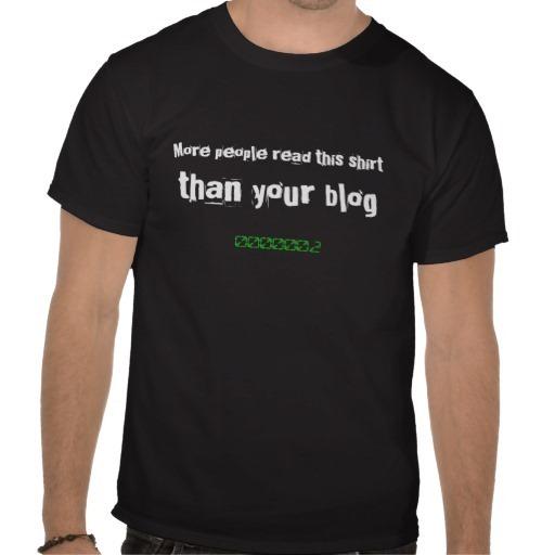 Remera del blogger sin visitas