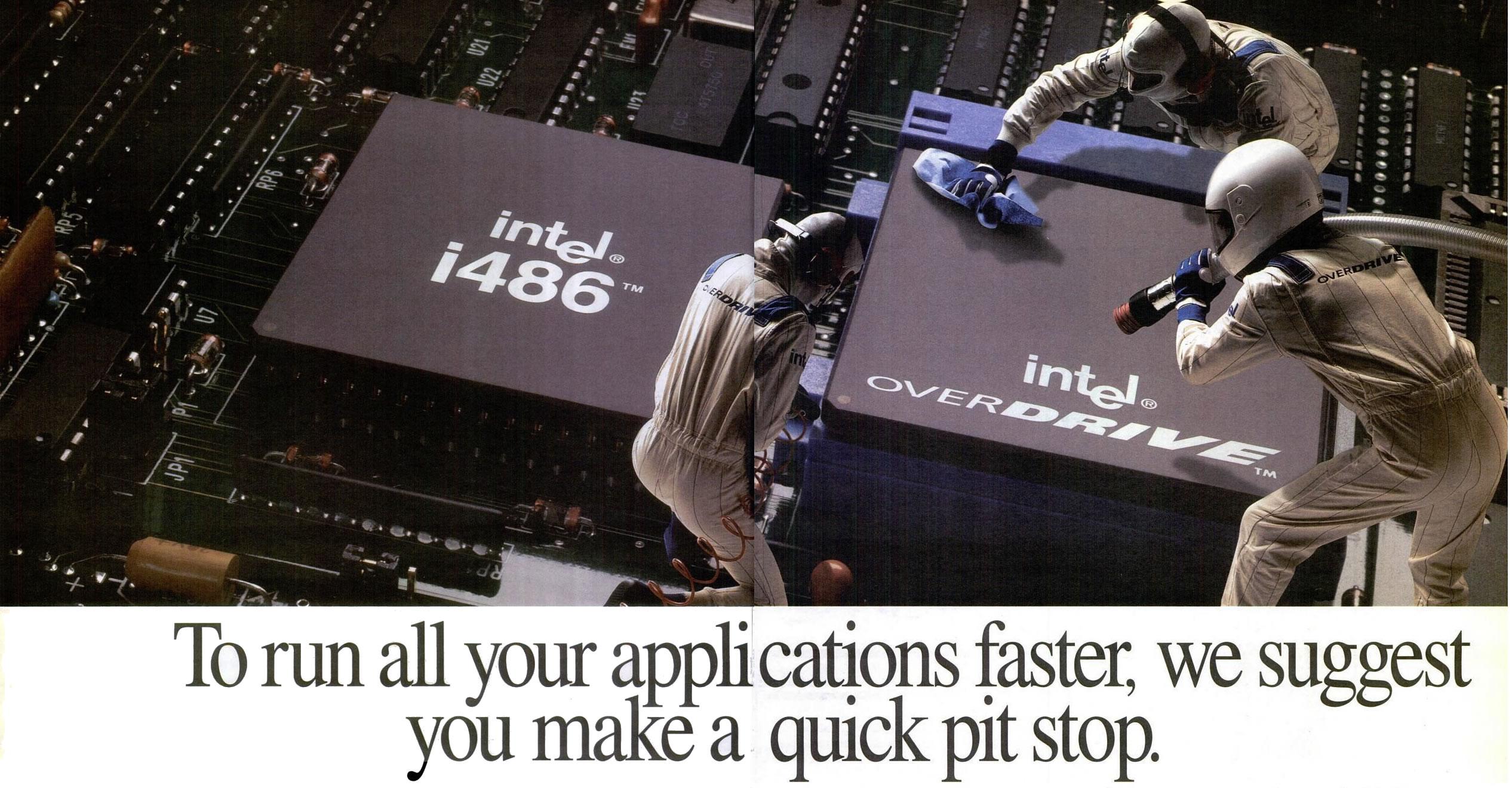 Publicidad del 486 Overdrive (algo así como los Pentium 4 Extreme).