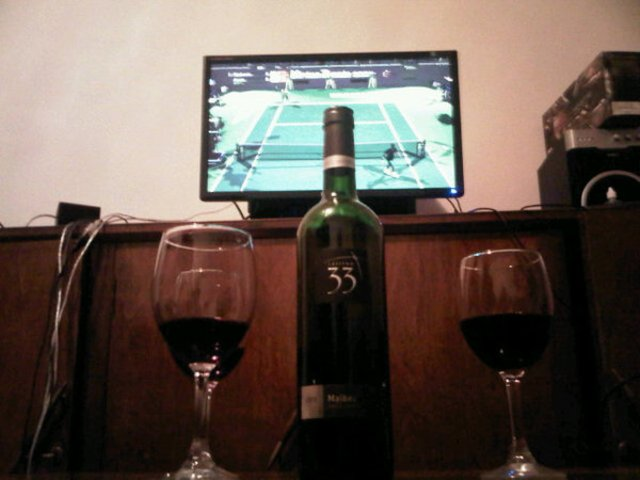 Virtua Tennis con buen Vino