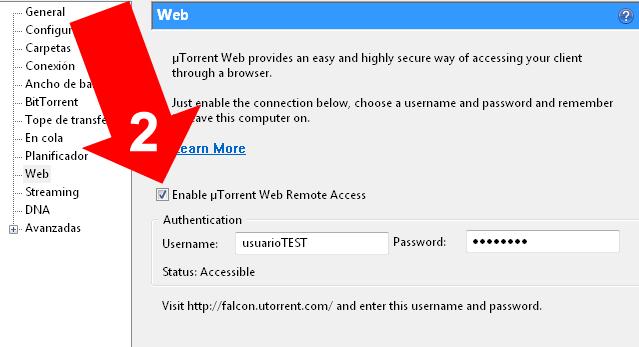 Manejar uTorrent remotamente