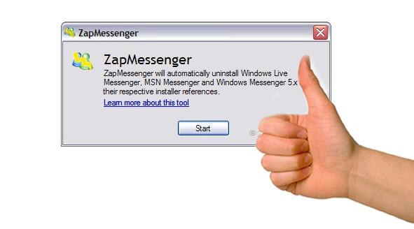 Zap Messenger es un excelente programa para desintalar Messenger
