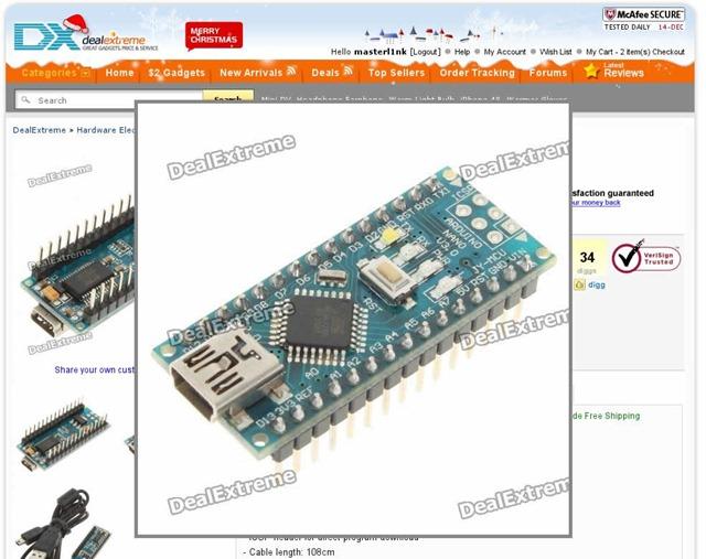 Arduino en Dealextreme