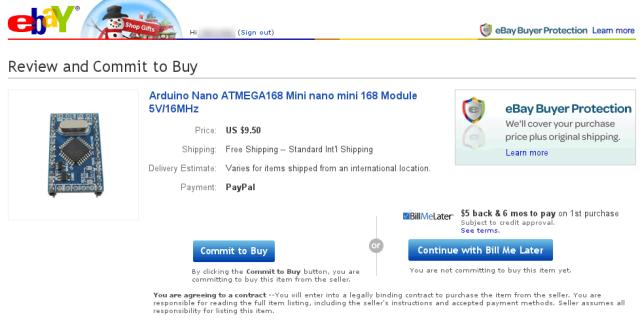 Producto en Ebay