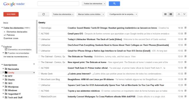 Nuevo Google Reader