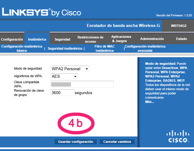 Password Cisco WiFi