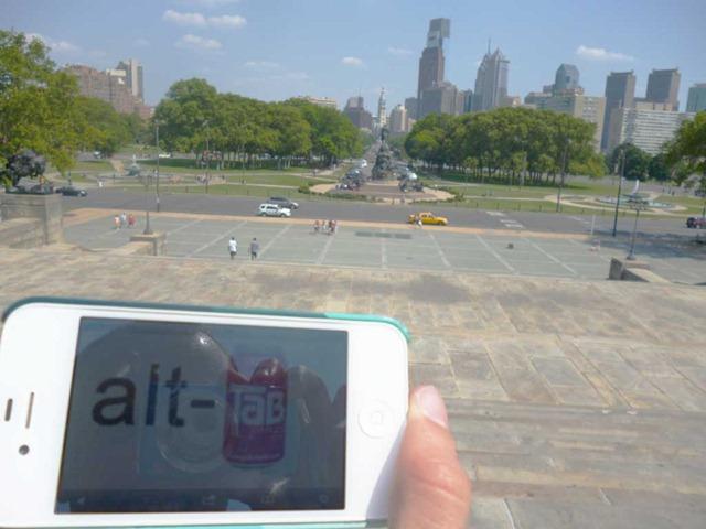 alt-tab fan desde Filadelfia