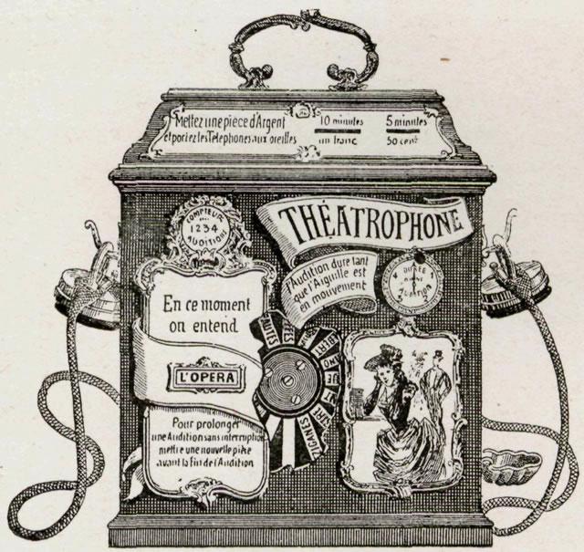 El aparato receptor del teatrófono
