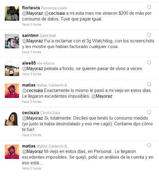 Timeline sobre el tema en Twitter