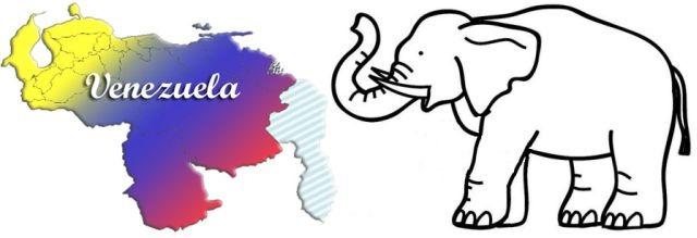 Venezuela con forma de elefante