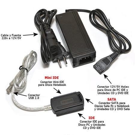 Adaptador IDE - MiniIDE - SATA a USB