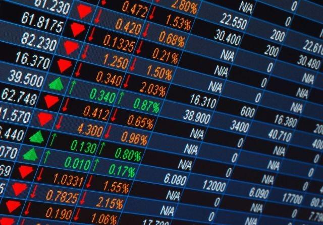 Tablero de una bolsa de valores