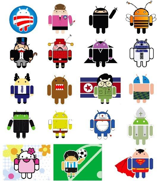 Variaciones de Androids