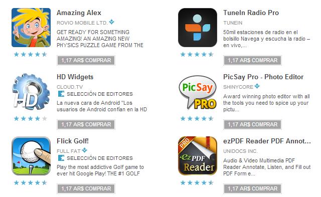 Google Play 25 mil millones de descargas