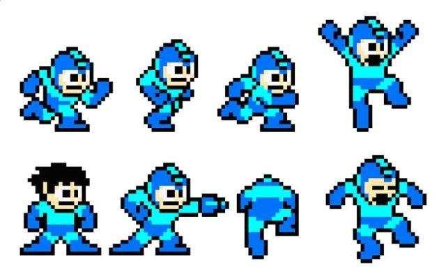 Megaman en su versión 8 BITS