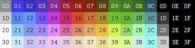 Paleta de colores del NES