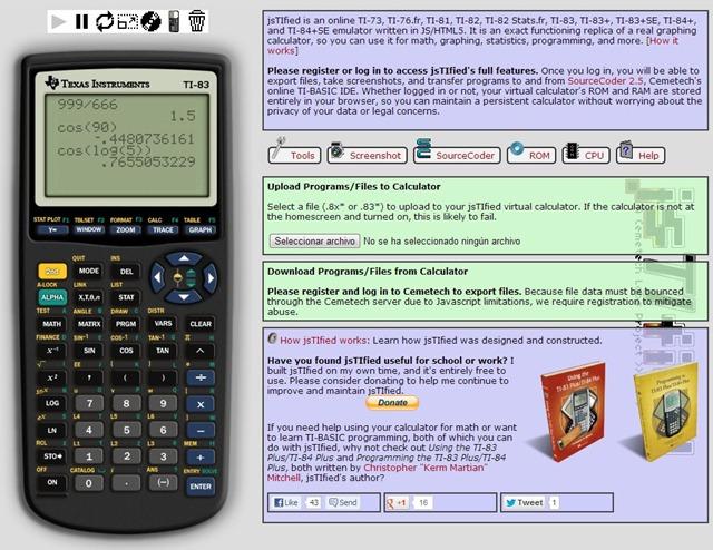 Emulador calculadora TI 83