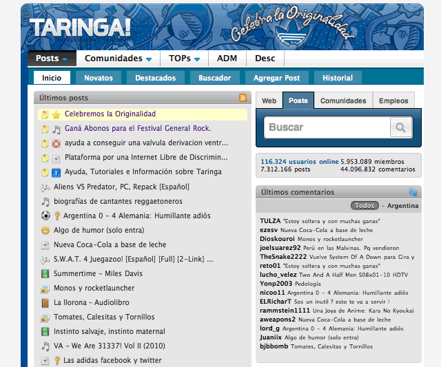 "Viejo ""home"" de Taringa"
