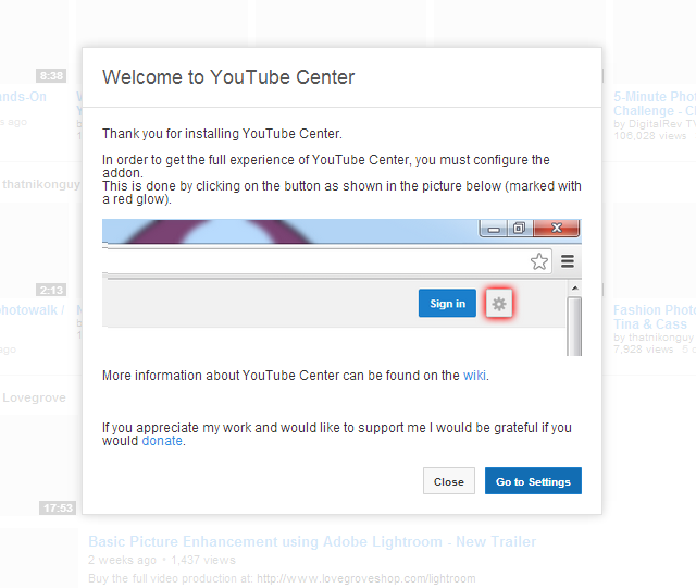 Youtube Center para Chrome