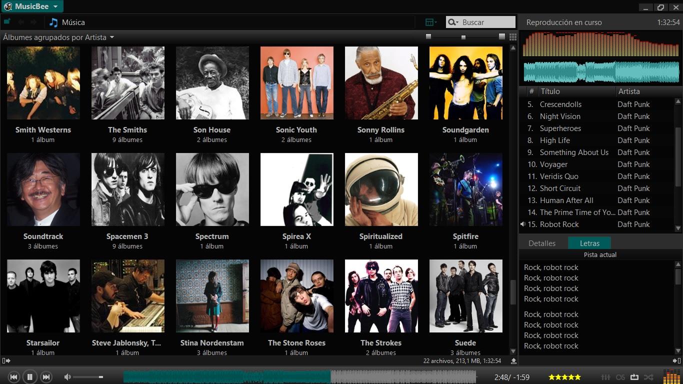 MusicBee: la personalidad en un reproductor de música