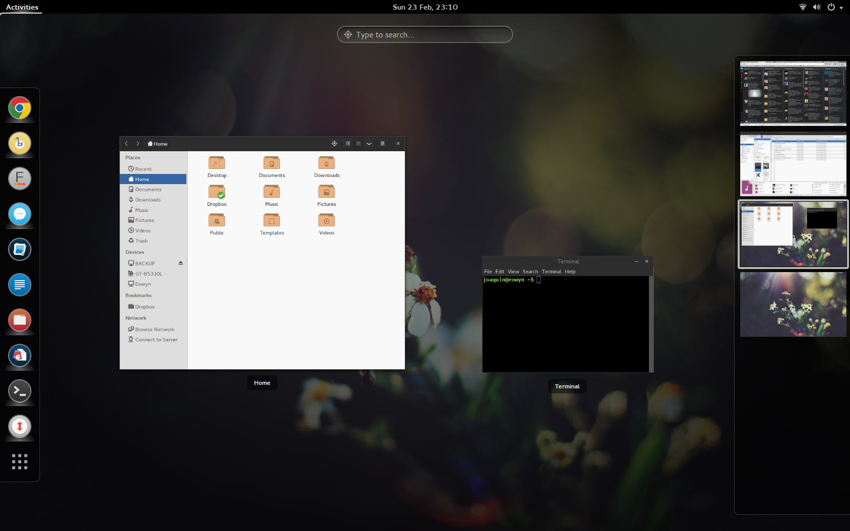 Mi desktop actual con GNOME 3.
