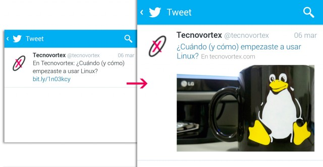 Twitter links redesign