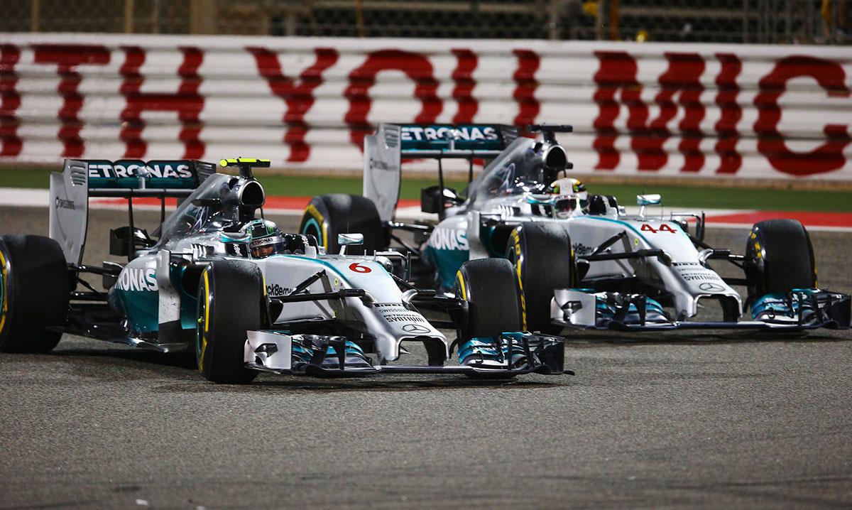 F1 bahrein duelo mercedes
