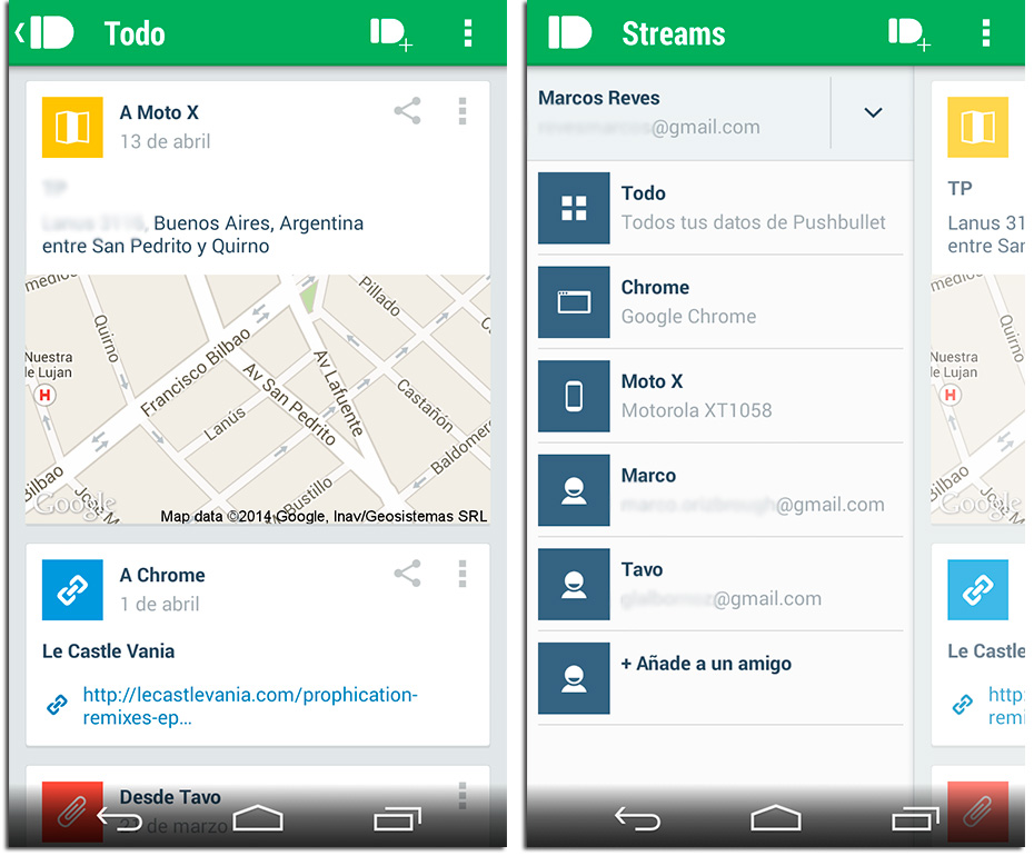 Pushbullet Screenshot versión 14