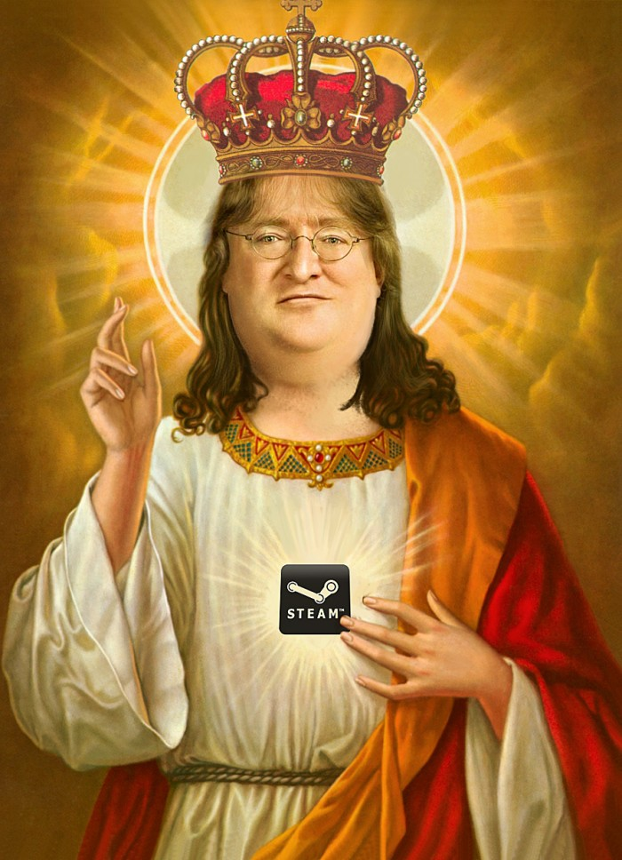 Gabe Newell Santo