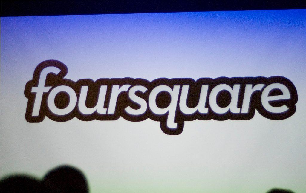 Logo viejo de Foursquare