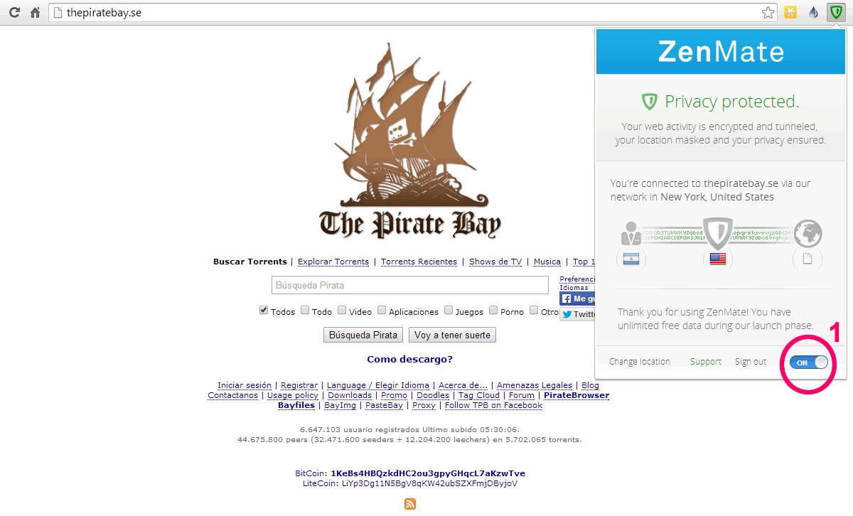 Entrar a The Pirate Bay con Proxy