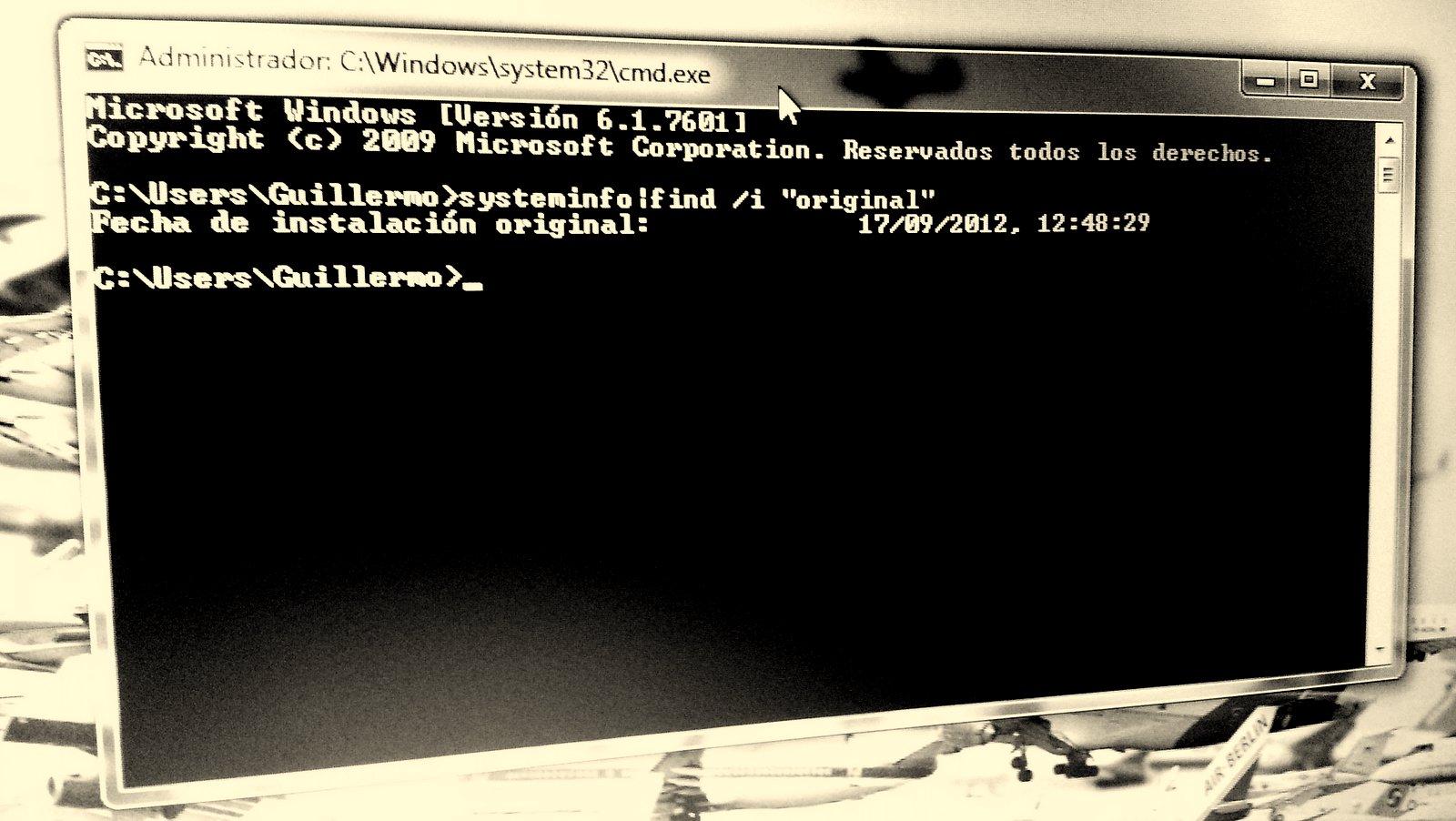 Conocer el tiempo que tiene instalado Windows