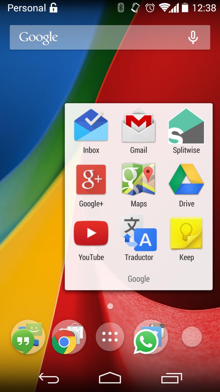 Android del Moto G Segunda Generación