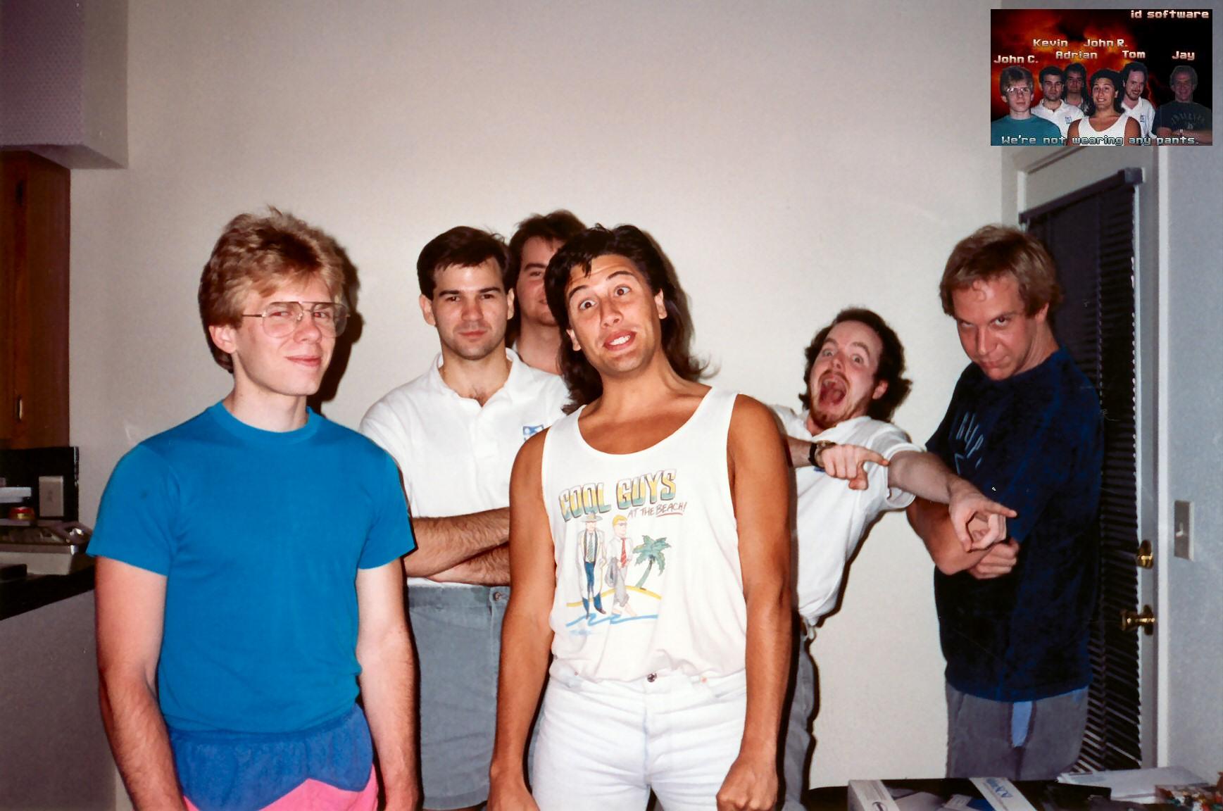 Esos locos locos años. Carmack es el de la izquierda.