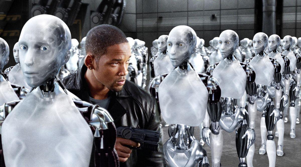 I robot muestra una rebelión de robots. No es tan apocalíptica como Terminator, pero...