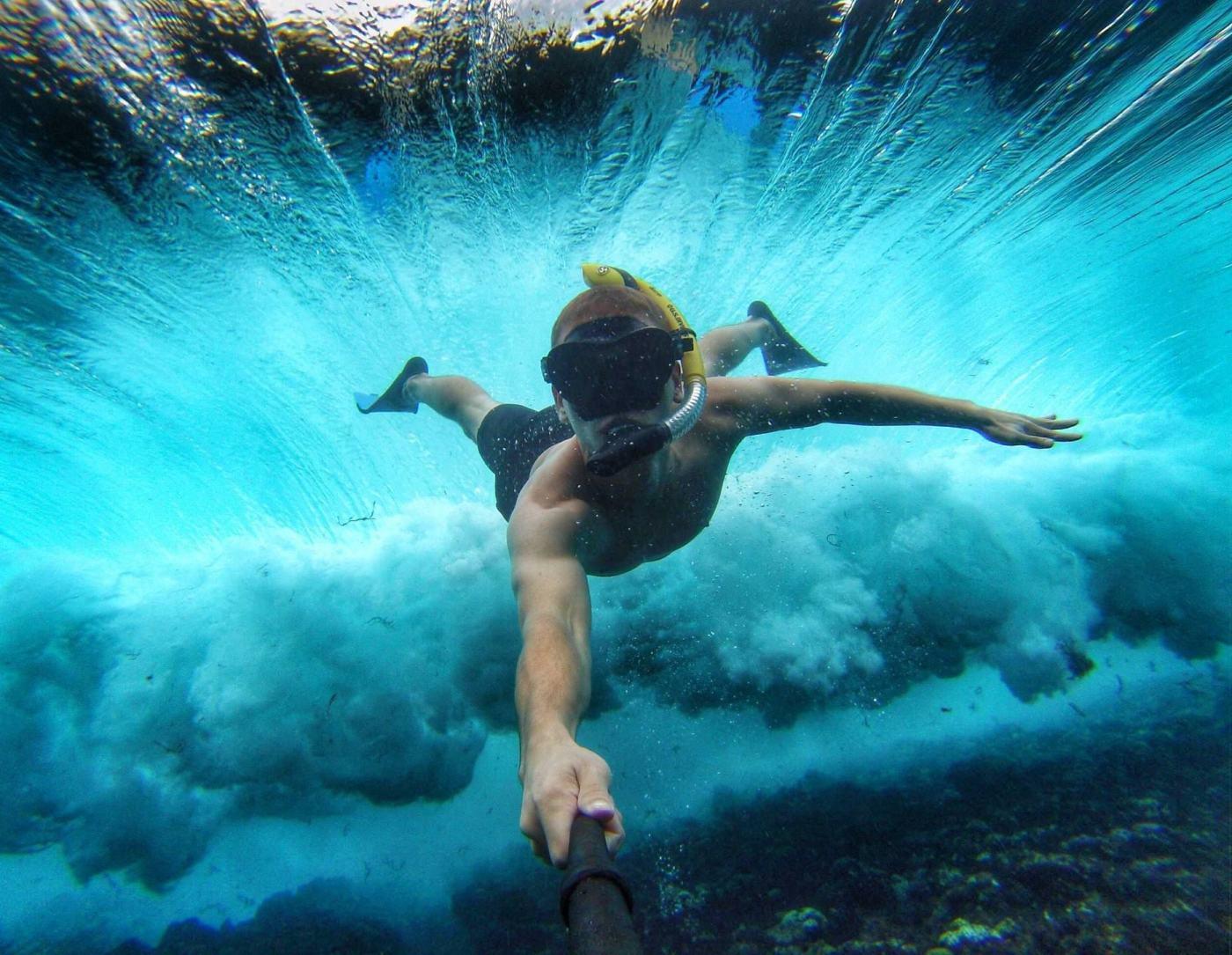 selfie-debajo-del-agua