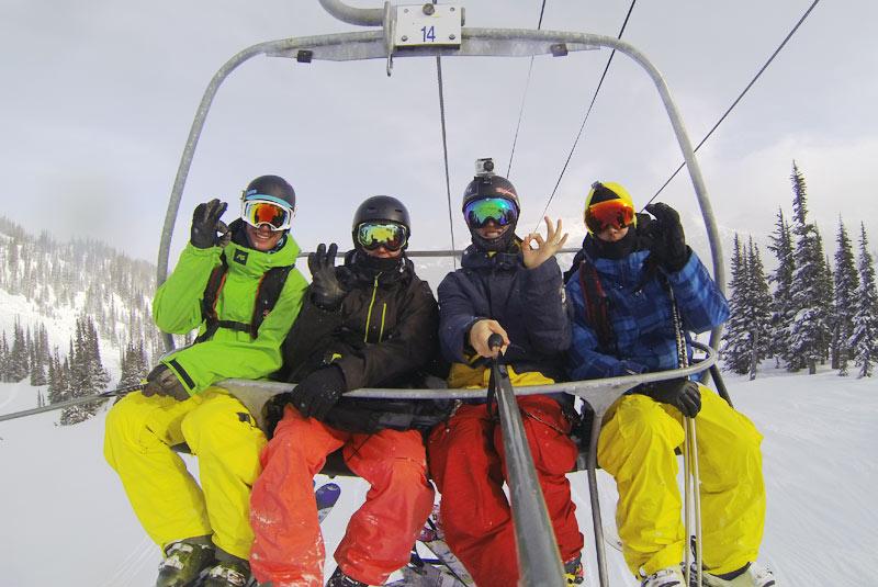 selfie-ski