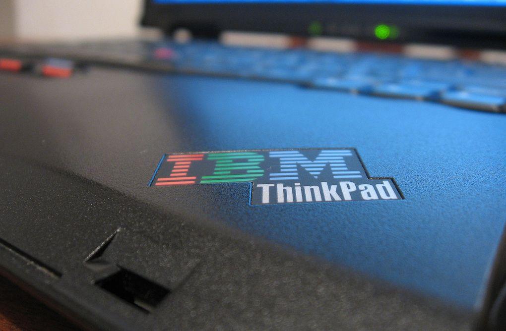 Una IBM Thinkpad. ¿Escuchan eso? Está llorando.