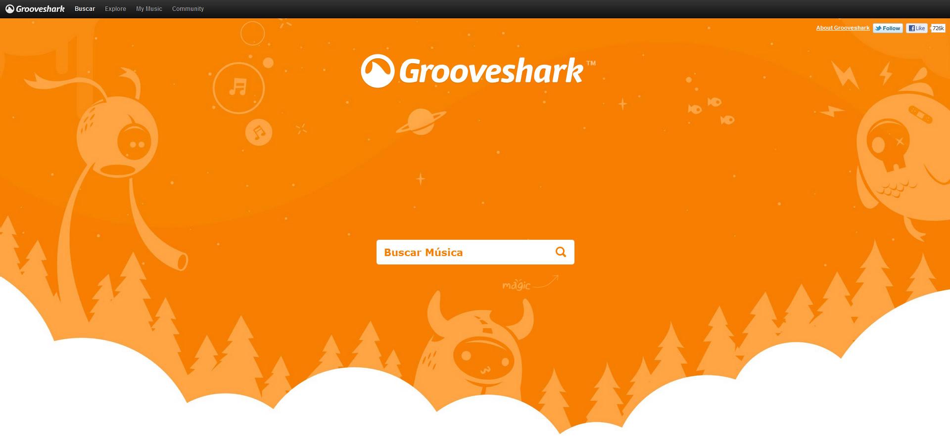 La Interfaz de Grooveshark ya era de excelencia allá por 2011.