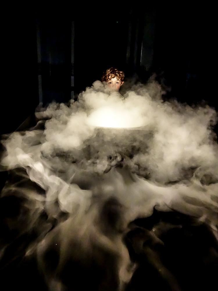 Sony QX10: Jugando con humo - Para la camara, opcion de fotografia nocturna