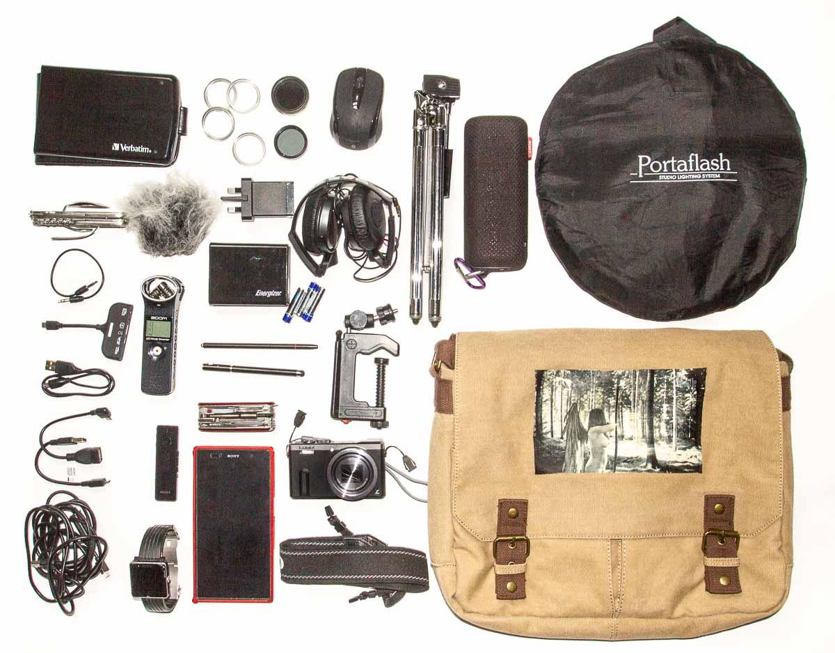 Todo lo que llevo conmigo, bolso incluido (bueno, no todo, pero no creo que les interese ver los pañales)