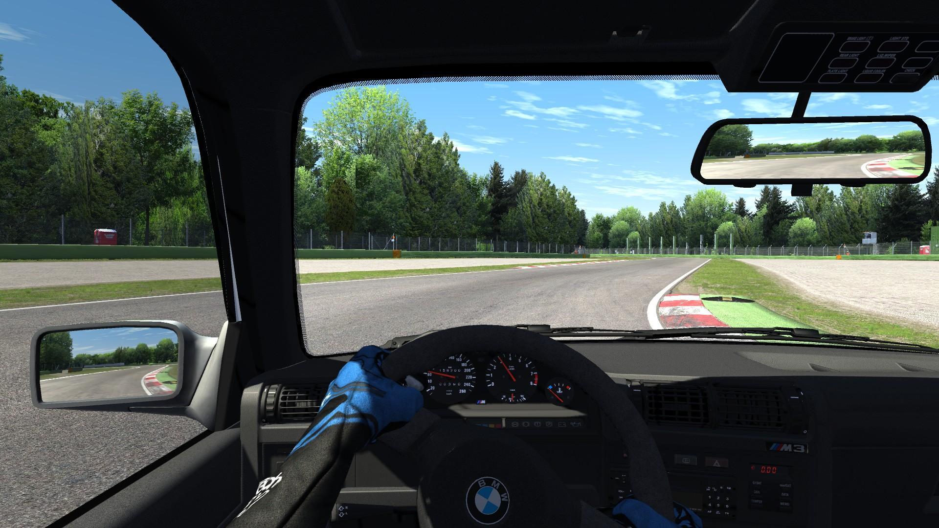 Asseto Corsa y una FOV bastante realista que se asemeja a lo que veríamos estando en el auto.
