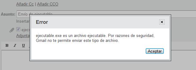 Enviar EXE por Gmail