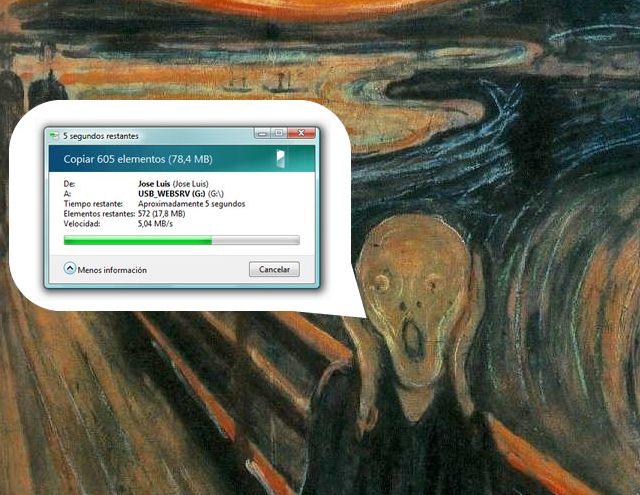 Copia de archivos en Windows Vista