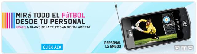 Celular LG con TV en Argentina