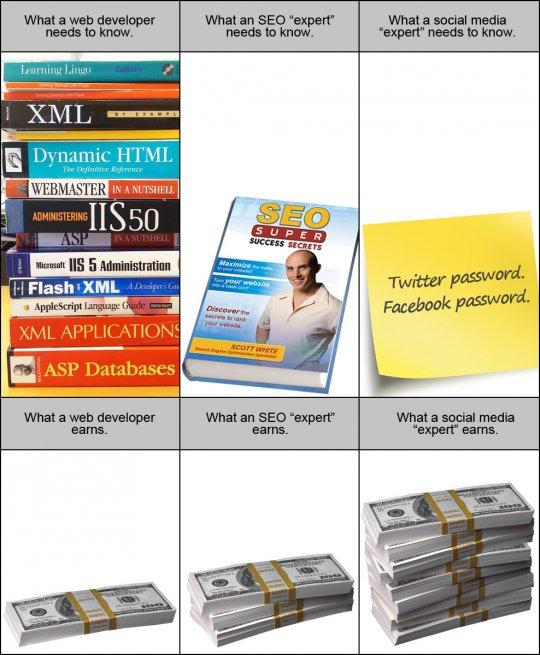 Ganancias SEO - Programador - Social media