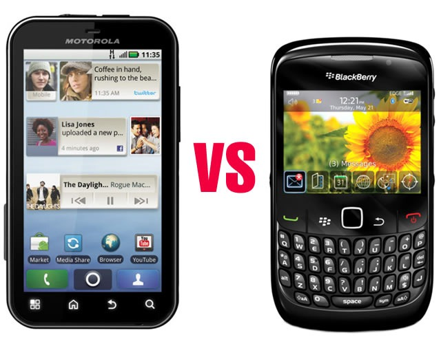 Android versus Blackberry por u$s 250