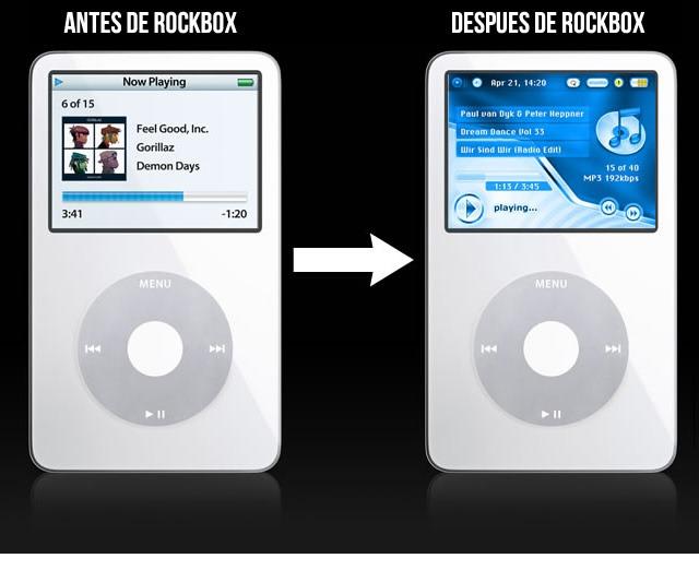 Antes y después de Rockbox