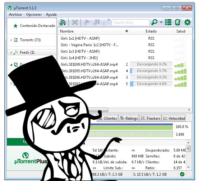 Bajar torrents automaticamente por RSS