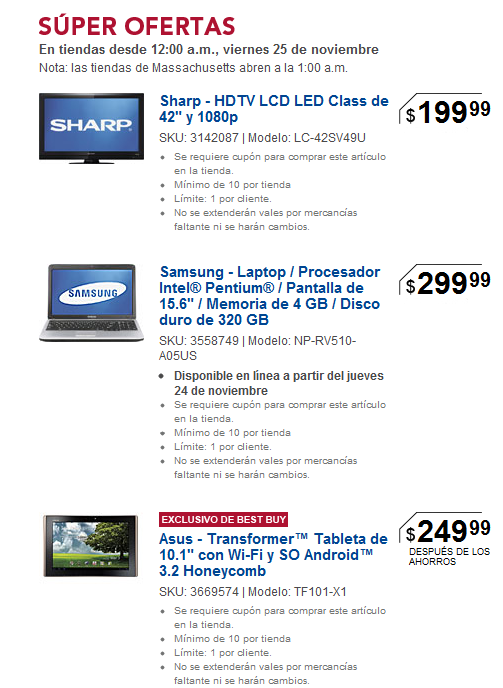 Black Friday en Best Buy