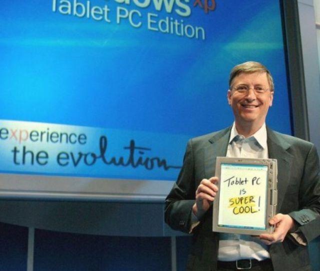 Bill Gates con una tablet PC